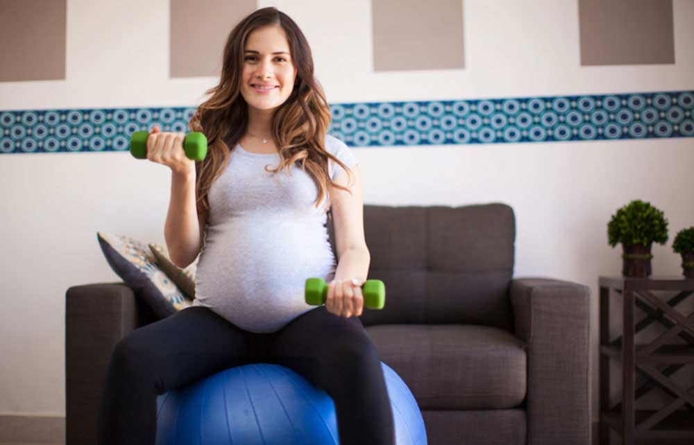 Pregnancy Ball Excercise Example