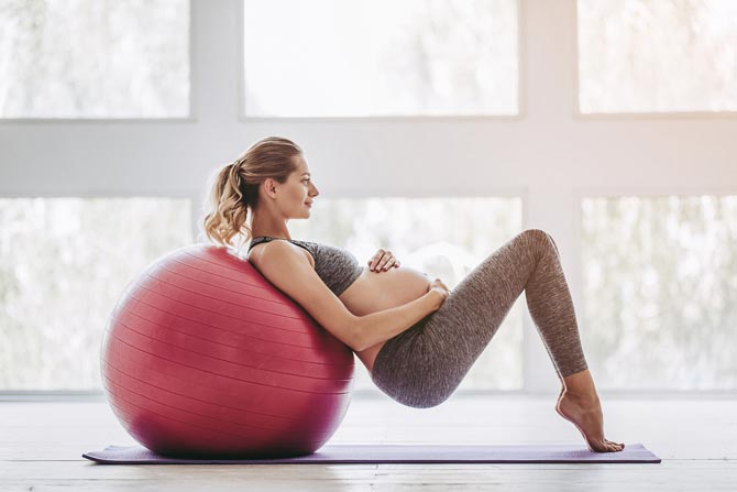 Pregnancy Ball Exercise