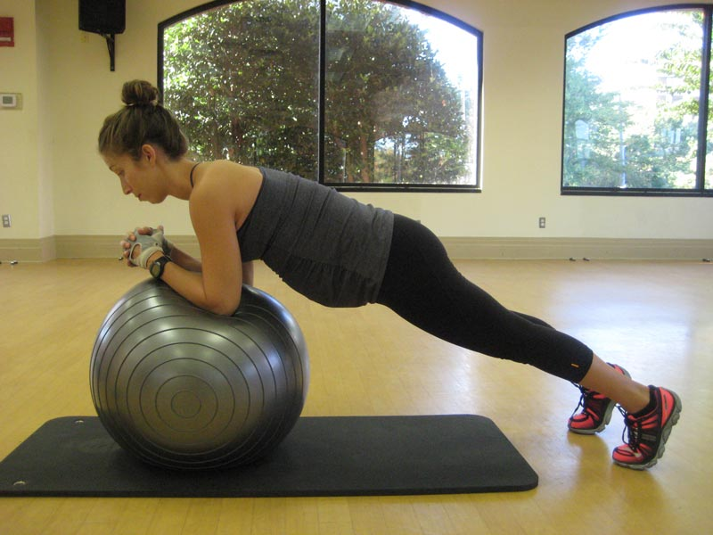 Pregnancy Inclined Front Ball Plank