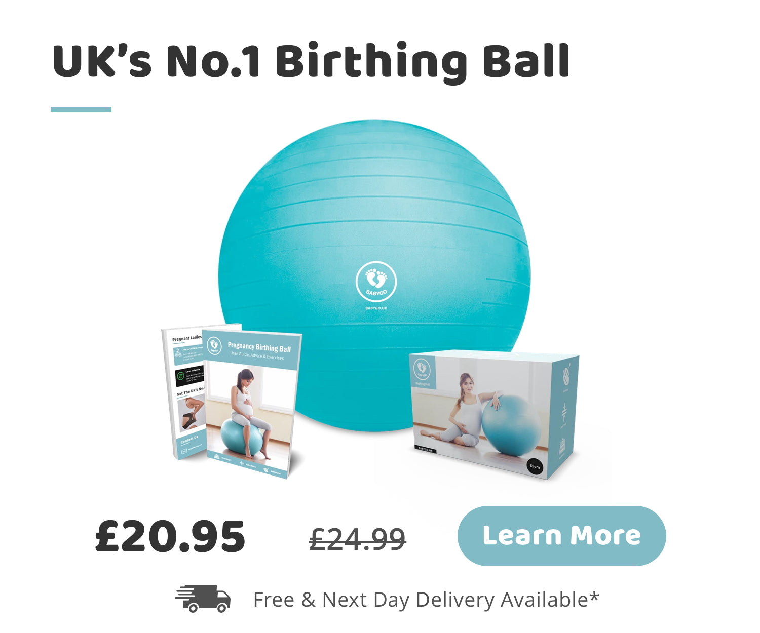 Unlock the benefits of the BABYGO birthing ball