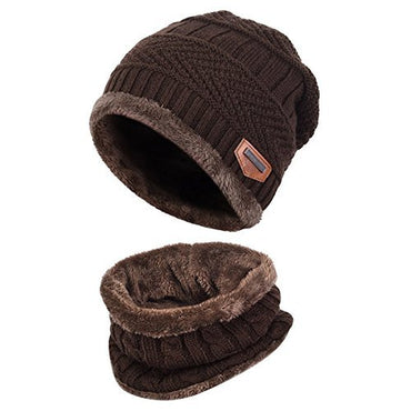 Rose Woogwin Beanie Cap Winter Hats for Men Women Knitted Warm Hat Solid Color