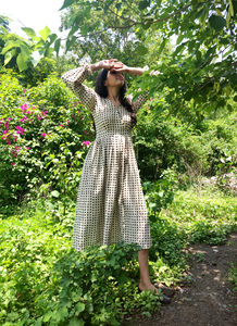 Dots Fit & Flare Dress - YESHA SANT