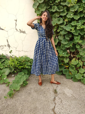 Dabu Fit and Flare Dress - YESHA SANT