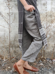 Textured Straight Pants - YESHA SANT