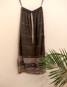Charcoal Kutch Weave Skirt