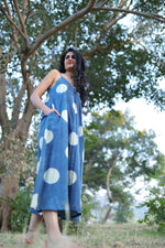 Indigo Circle Dress - YESHA SANT