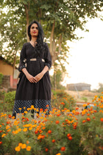 Checkered Black Dress - YESHA SANT