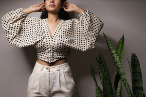 Retro Dots Top - YESHA SANT