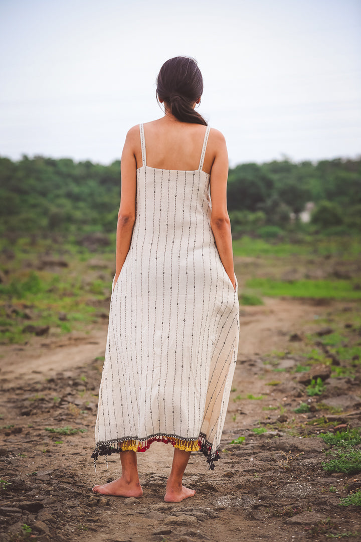 Kutch Embroidered Spaghetti dress