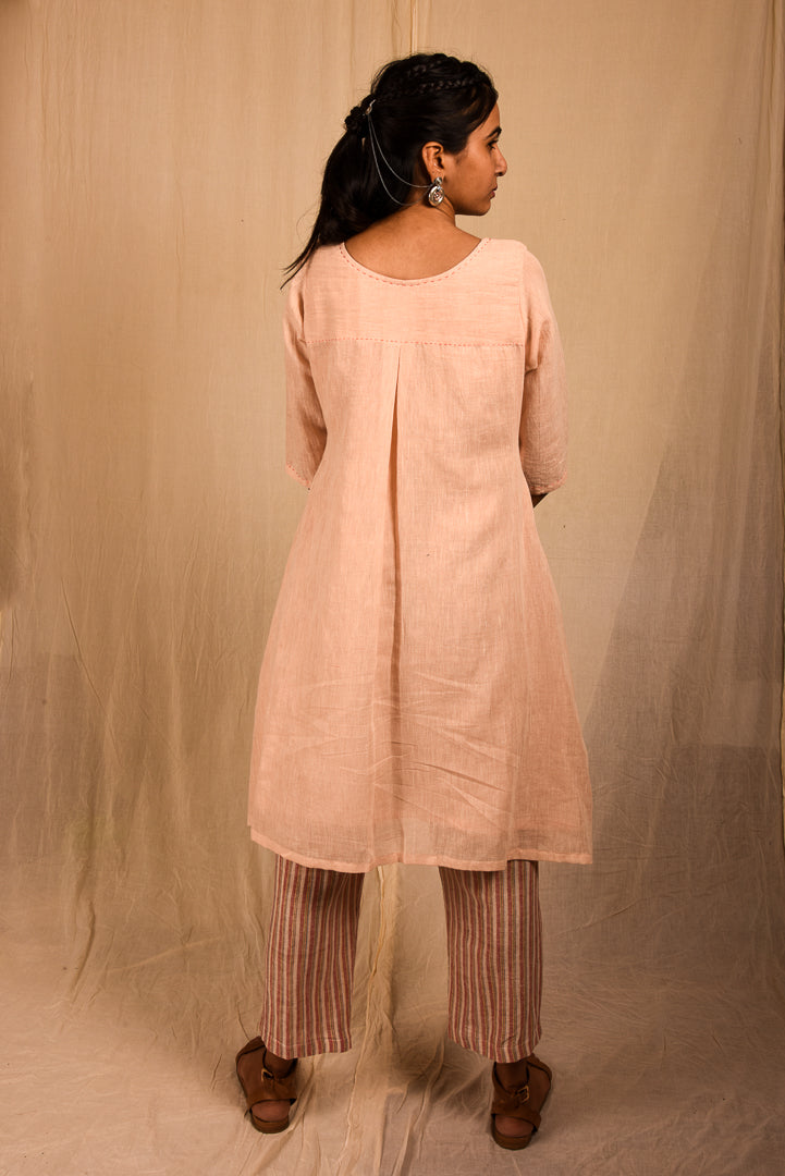 Linen Box Pleat Kurta - YESHA SANT