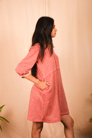 Khadi Pink Lil Dress - YESHA SANT