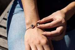 Double Moon Pallene Bracelet in Rose Gold-5