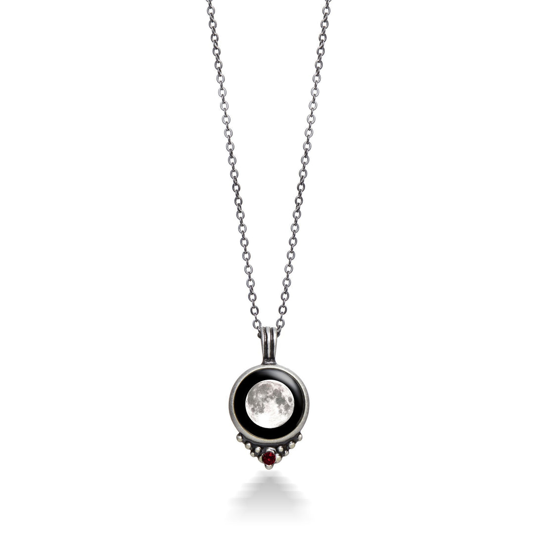 pewter moon necklace