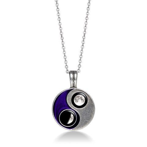 Taijitu Necklace in Purple