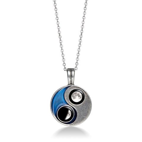 Taijitu Necklace in Blue