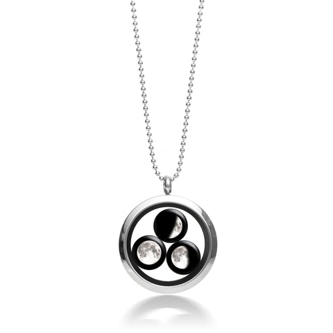 Family Locket Necklace Stainless Steel