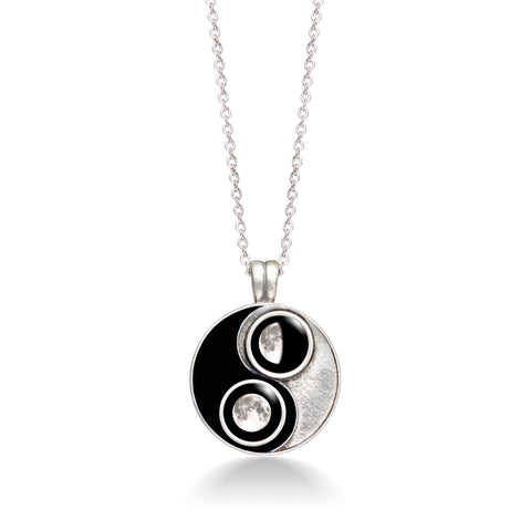 Taijitu Necklace in Black