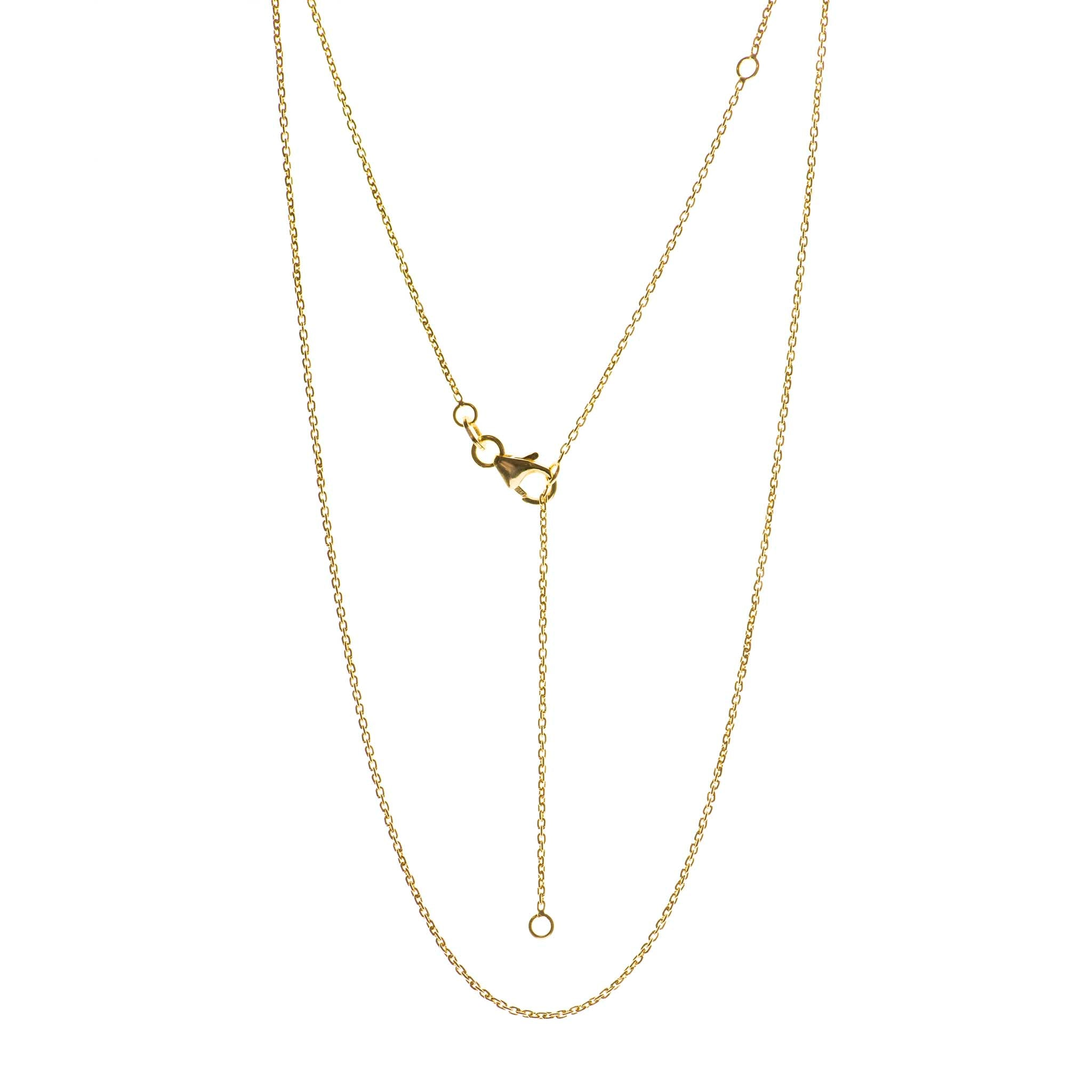 Yellow gold adjustable 16-20 Inch chain