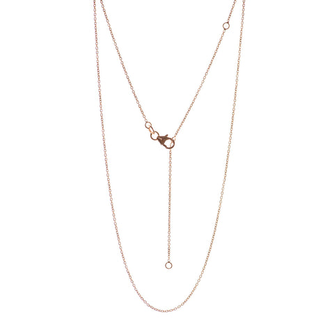 Rose gold adjustable 16-20 Inch chain
