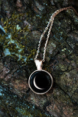 Meteor Necklace in Rose Gold-44