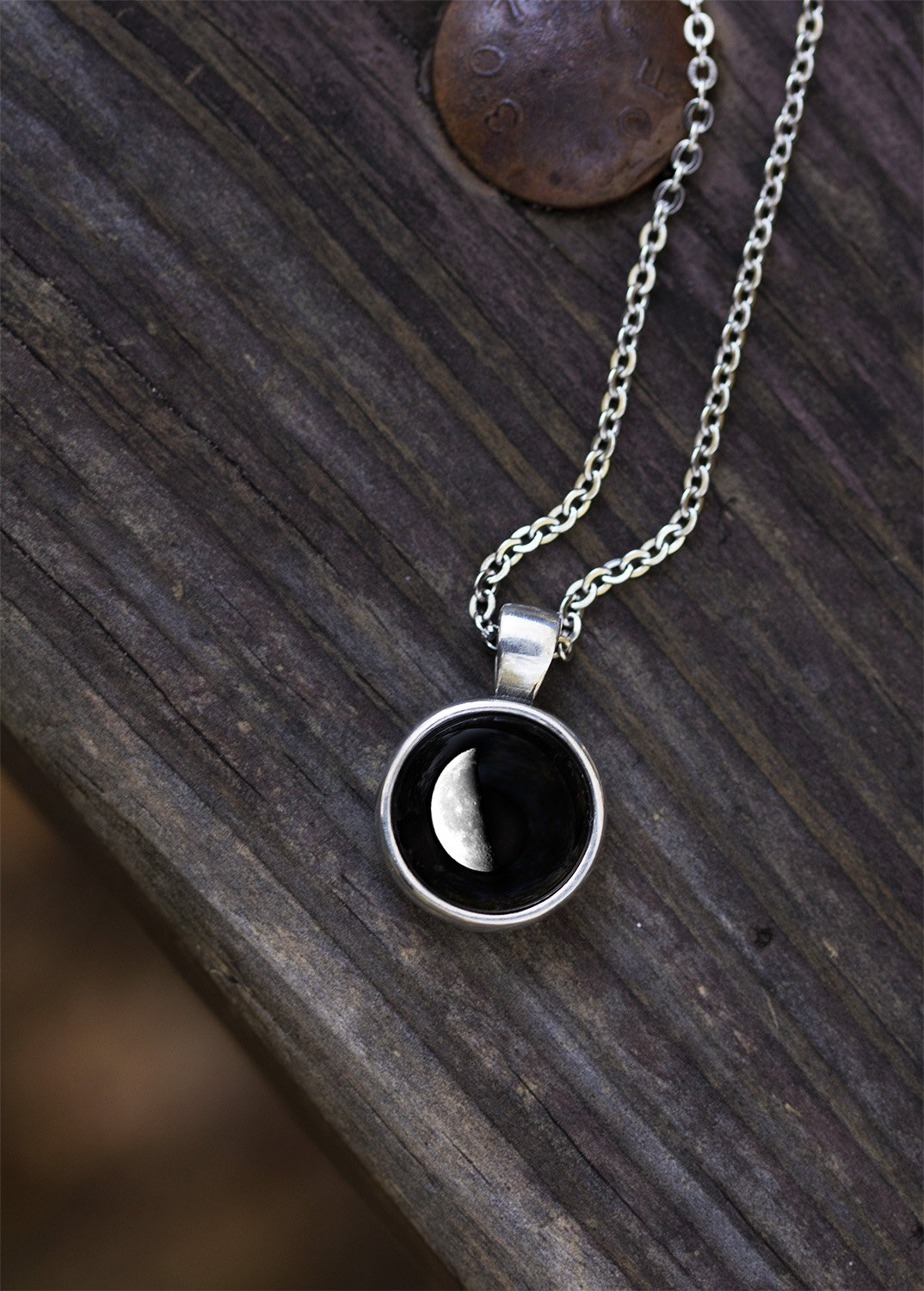 Meteor Necklace in Pewter