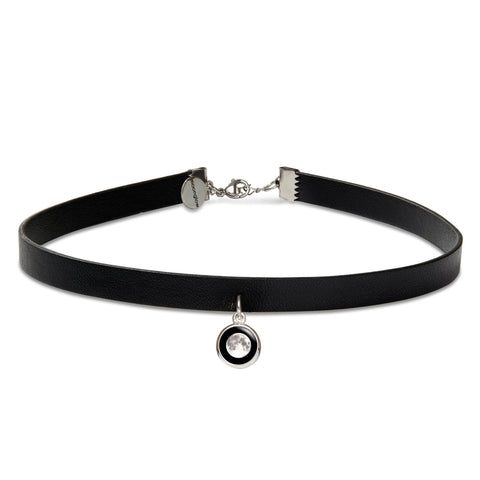 Modern Moon Choker in Black