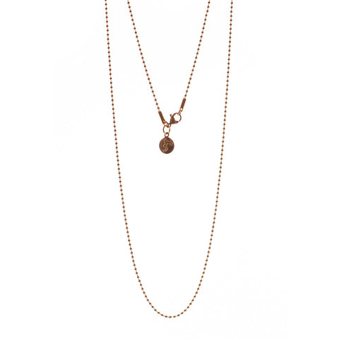 Rose gold Beaded 28 inch chain