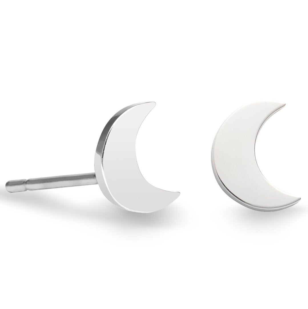 Crescent Stud Earrings-1