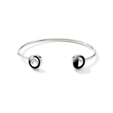 Lunar Dyad Cuff in Stainless Steel