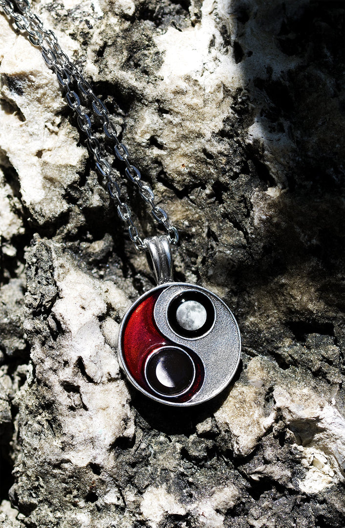 Taijitu Necklace in Red-2