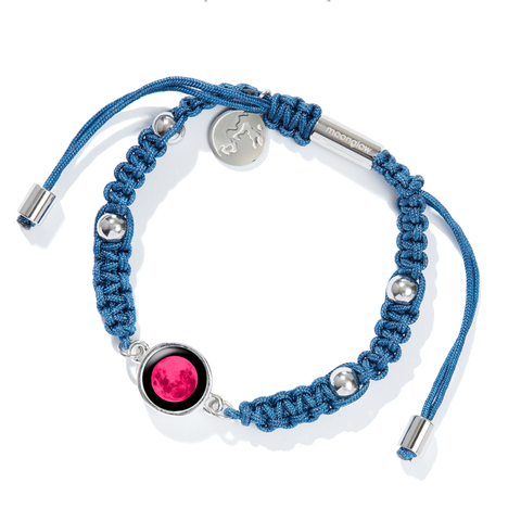 Pink Moon Milestone Bracelet in Deep Blue