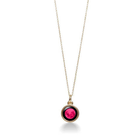Pink Moon Mini Gold Simplicity Necklace