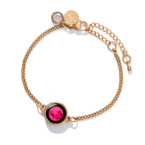 Pink Moon Birthstone Pallene Bracelet in Gold