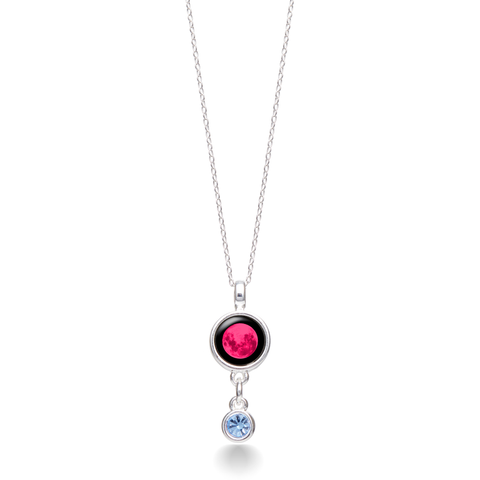 Pink Moon Birthstone Satellite