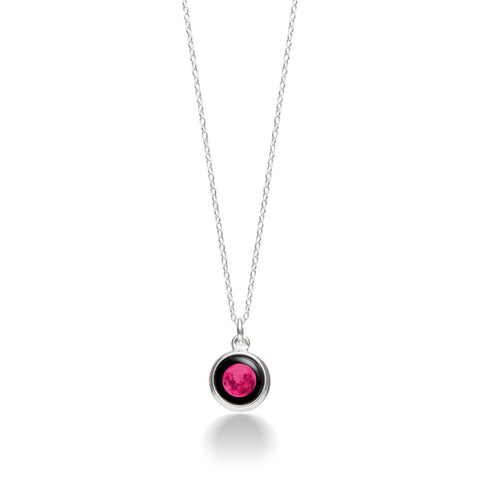 Pink Moon Mini Silver Simplicity Necklace