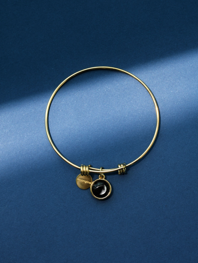 Logosphere Birthstone Bangle in Yellow Gold
