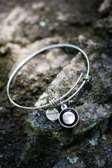 Modern Moon Bangle in Stainless-4