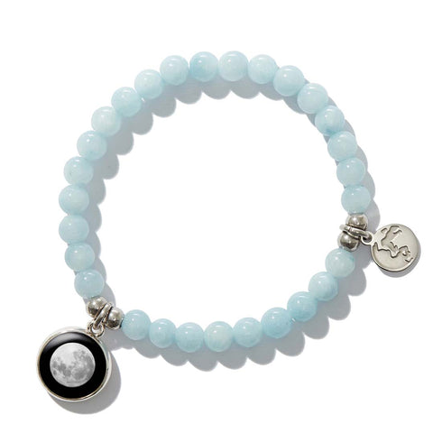 Beaded Bracelet in Calm & Glow Angelite