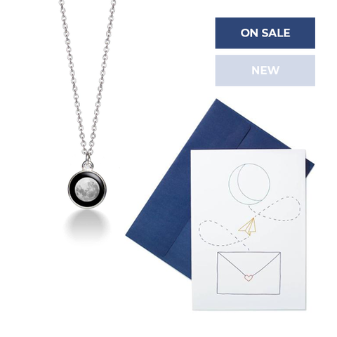 Charmed Simplicity Necklace + Moon Message Card Set