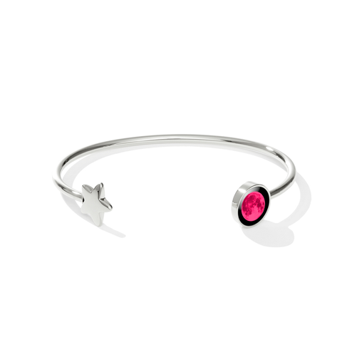 Pink Moon Crepuscule Cuff in Stainless Steel
