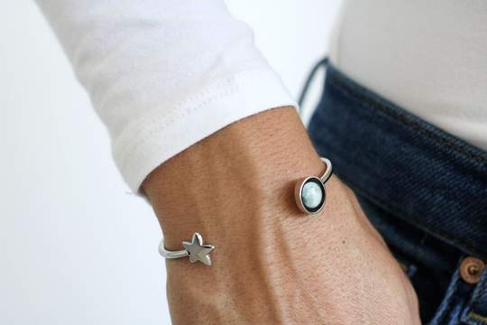 Crepuscule Cuff in Stainless Steel