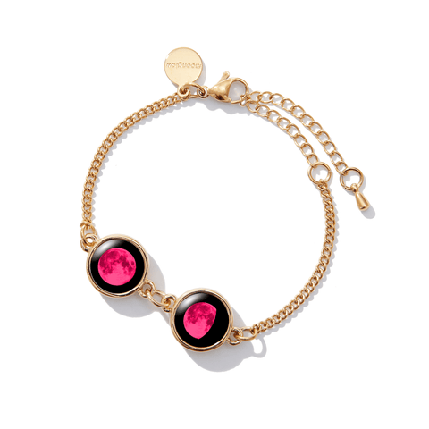 Pink Moon Double Moon Pallene Bracelet in Gold