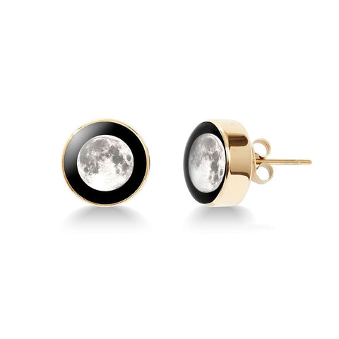 Moonshine Stud Earrings in Gold