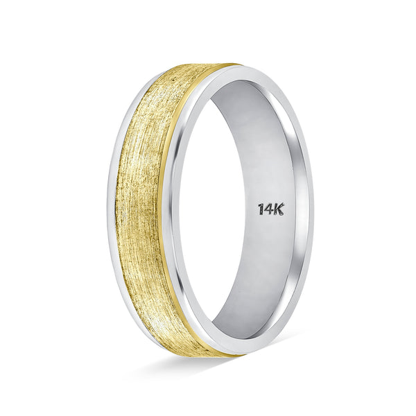 TousiAttar Mens Two Tone Gold Rings