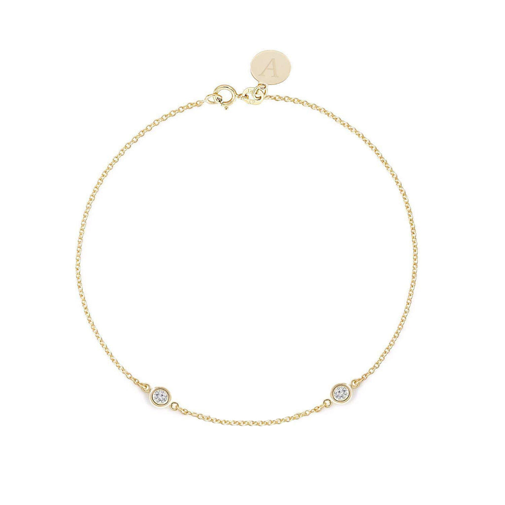 TousiAttar Diamond Bracelet 0.10 ct Yellow Gold