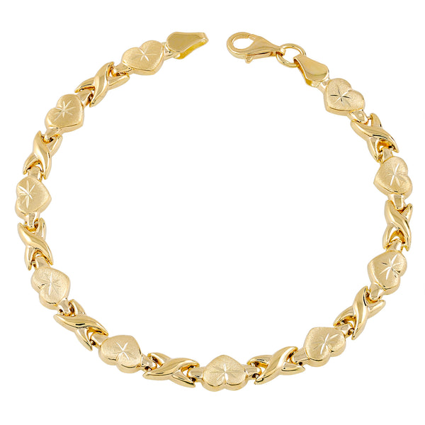 Gold Chain Link Bracelet 14K Yellow Gold