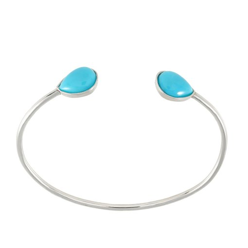 Turquoise Bangle Gold Bracelet