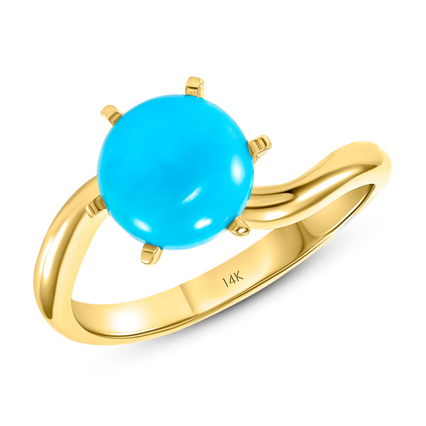 14k Gold Turquoise Ring Jewelry