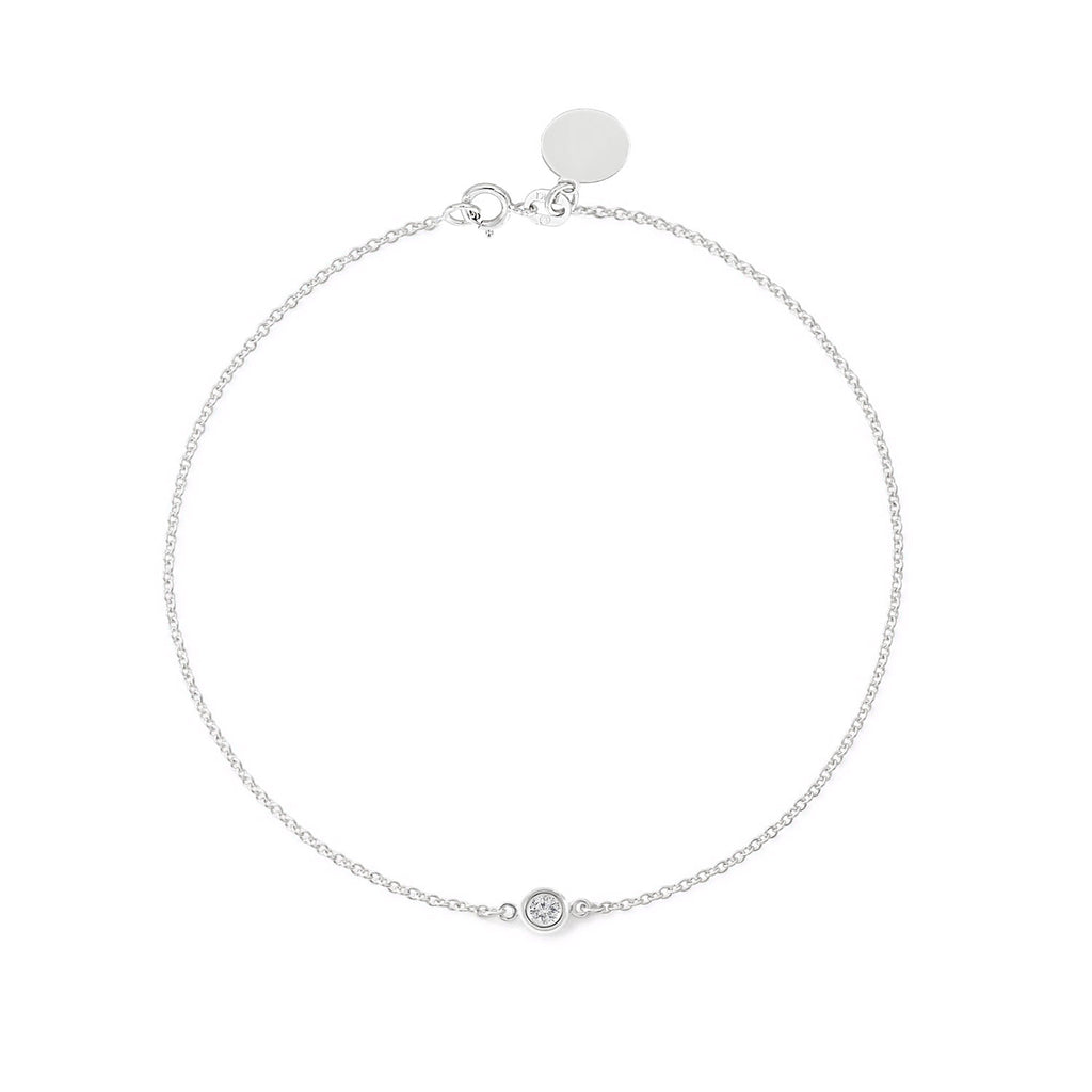 TousiAttar  Diamond Bracelet Solitaire White Gold