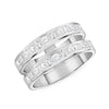 Double Ring Gold Diamond Band Nice 2 Line Rings
